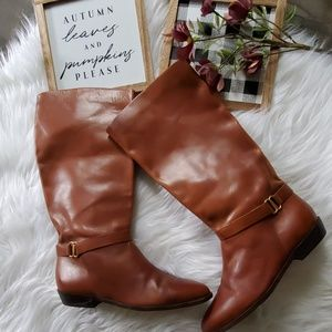 Etienne Aigner Shelby Leather Riding Boots